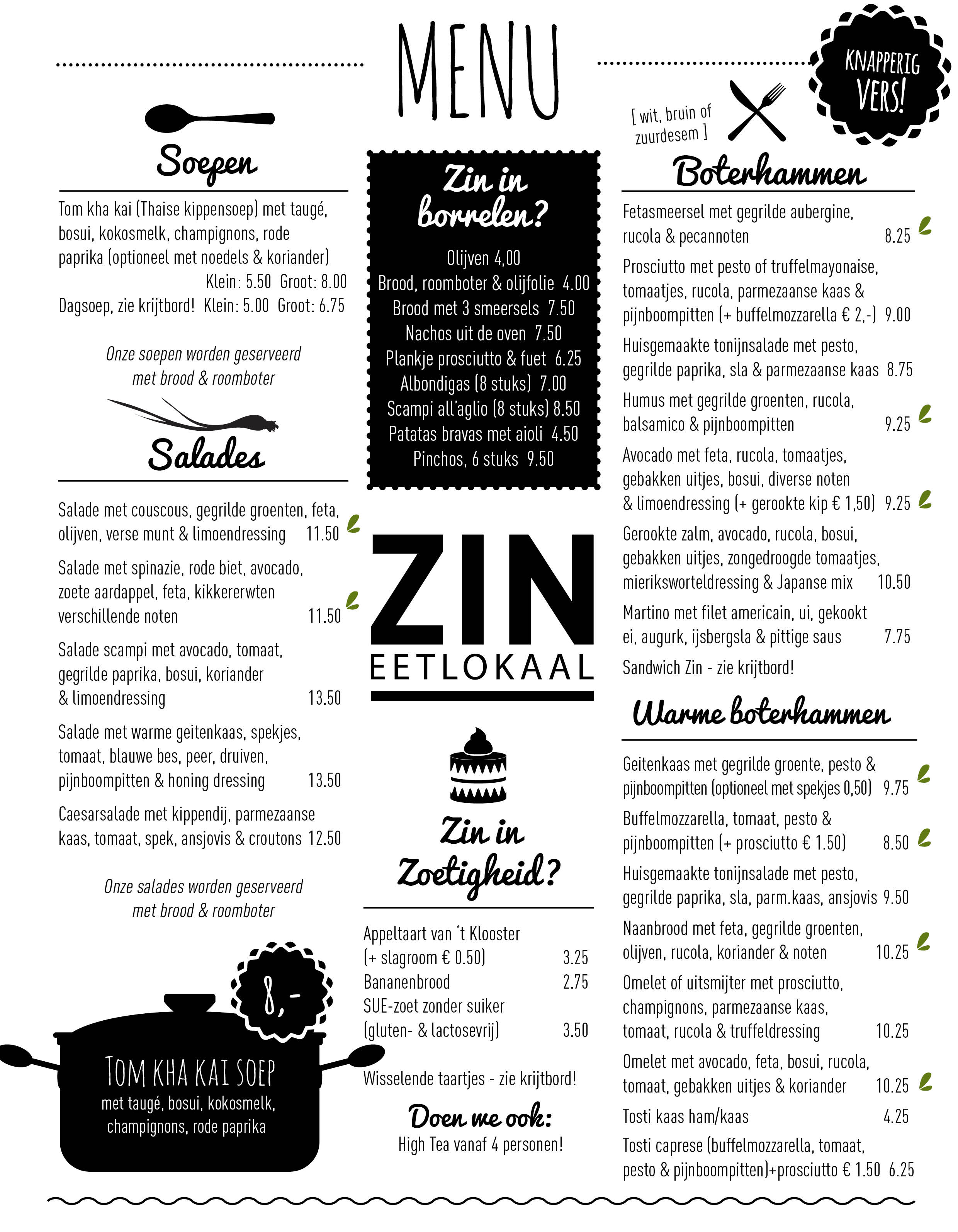 19001 ZIN Menu website